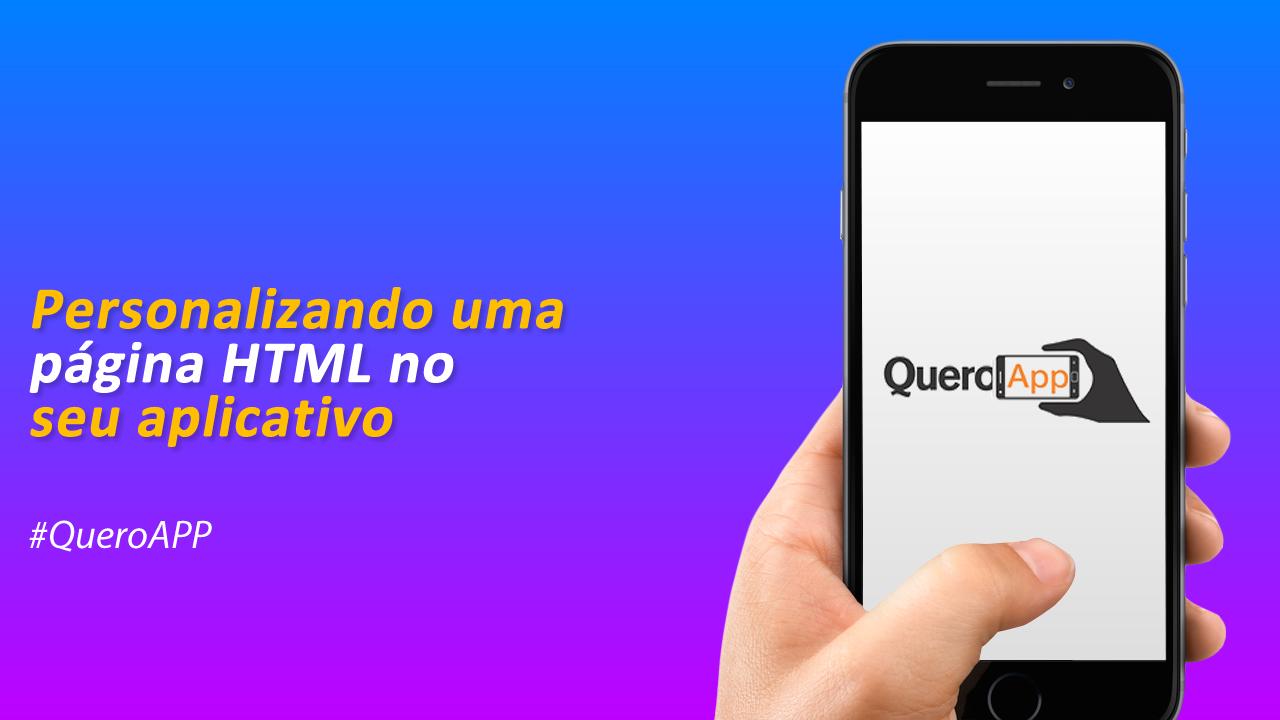 Personalizando uma página HTML no seu aplicativo