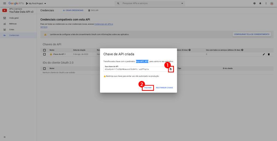Como criar e configurar a API do YouTube no seu app
